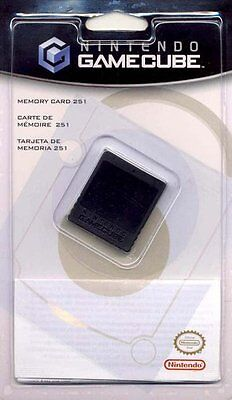 Official Nintendo GameCube Memory Card 251 16MB Original Authentic Sealed NEW!
