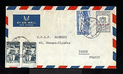9629-SYRIA-AIRMAIL COVER ALEP to PARIS (france) 1949.WWII.Syrie.Aerien.