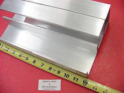 "3 Pieces 3""x 1.75"" ALUMINUM CHANNEL 6061 X .26"" Flang 12"" long T6 Mill Stock"