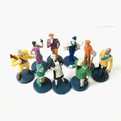 2002 Clue GAME10 Suspects Pieces Pawns Tokens Movers Characters Figures Parts