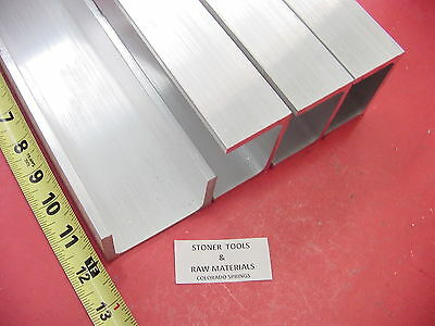 "4 Pieces 3""x 1.75"" ALUMINUM CHANNEL 6061 X .26"" Flang 12"" long T6 Mill Stock"