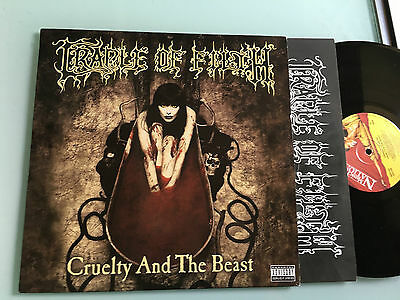LP 1998  First Pressing  RARE  Cradle Of Filth ‎– Cruelty And The Beast