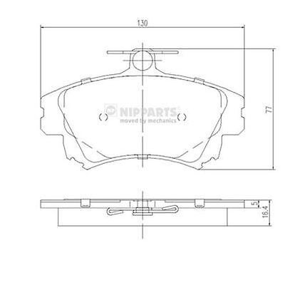 To Clear - New Oe Quality Nipparts - Front - Brake Pads Set - J3605042