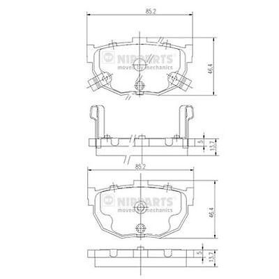 To Clear - New Oe Quality Nipparts - Rear - Brake Pads Set - J3610505