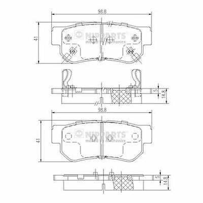 To Clear - New Oe Quality Nipparts - Rear - Brake Pads Set - J3610509