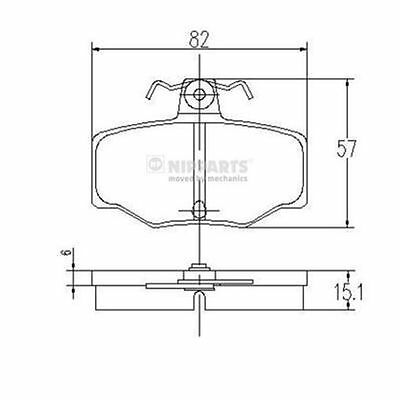 To Clear - New Oe Quality Nipparts - Rear - Brake Pads Set - J3611031