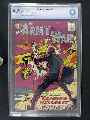 Our Army At War #76 - CBCS 8.5 VF+ DC 1958 - 3rd HIGHEST GRADE on The Census!!!