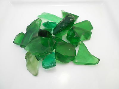 2 lbs BULK Emerald Green Colored Sea Glass for Crafts Mosaic Lamp & Vase Filling