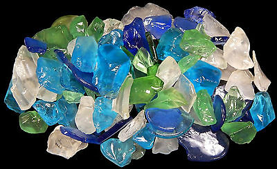 4 lbs BULK Lite Color Mix Sea Glass for Crafts Mosaic Lamp & Vase Filling Decor