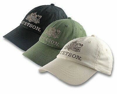 02334351b057 Stetson Logo Baseball Cap Hat Linen Cotton Blend Natural One Size Adjustable