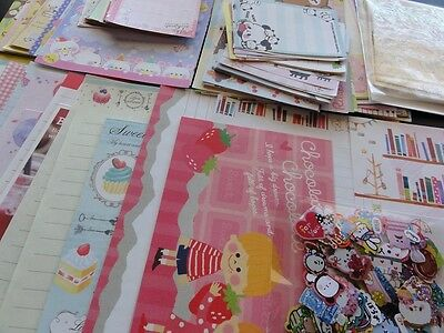 346 pc Designer Stationery Note Paper Letter Envelopes Sticker Memo Writing Set