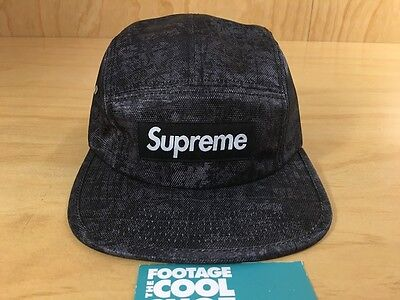 35dae10824b Supreme Croc Box Logo 5-Panel Camp Hat Black Fall Winter Fw12 2012 Tnf Cdg