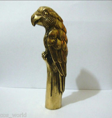 Old Copper Carved Eagle Statue Walking Stick Head