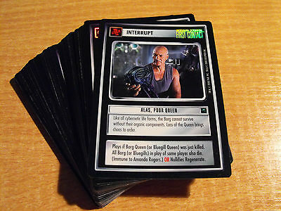 Star Trek Ccg Reflections Complete Set Of 46 Very Rare Foil Cards