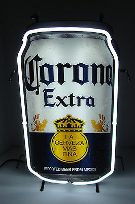 "Corona Extra Beer Can 25"" X 15"" Bar Neon Sign New"