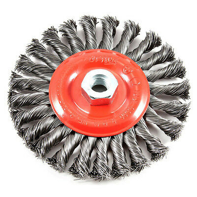 "FORNEY 72758 .012"" x 6"" Twist Knot Crimped Wire Wheel Brush 5/8"" - 11 Arbor"