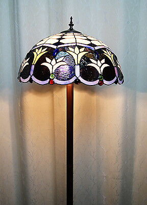 "2016 new arrivals@18"" Floral Leadlight Stained Glass Tiffany  Floor Lamp"