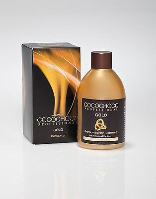 Cocochoco GOLD Brazilian Blow Dry Hair Straightening Keratin Treatment 250ml kit