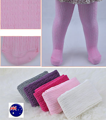 Girls Baby Kids Cotton Mix Braided Warm Bottoms Pants Tights Leggings Stockings