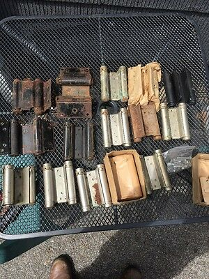 16 VTG Old SWINGING saloon DOOR HINGES western bar Spring Loaded Double Action