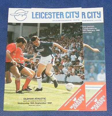 Leicester City Home Programmes 1987-1988