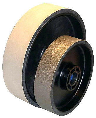 BUTW 8 x 2 x 400 grit diamond soft flex lapidary grinding wheel E