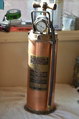 VINTAGE PHISTER NO.1B  BRASS, COPPER, IRON FIRE EXTINGUISHER(Empty)