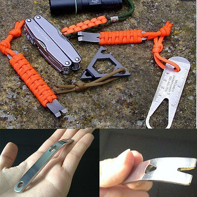 Outdoor Camping Crowbar Multi-function Porket EDC Mini Survival Tools Keychain