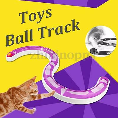 Kitty Round Bount Play Circuit Pet Cats Toy Interactive Toys Ball Track HOT