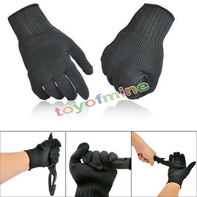 2X Cut Metal Mesh Butcher Anti-cutting Breathable Stainless Steel Work Gloves