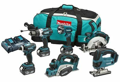 Makita DLX6012PM 18v 6 Piece Kit 3 x 4.0Ah Li-ion Twin Port Charger