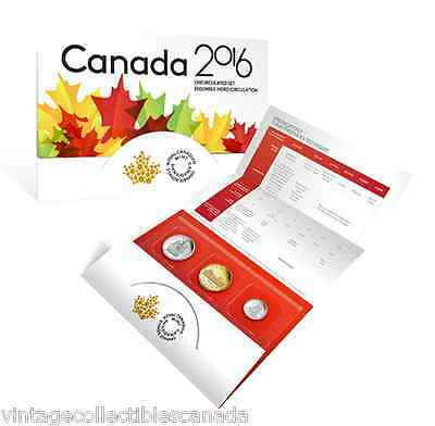 CANADA 2016 UNCIRCULATED 6 COIN MINT SET with SCARCE LOON DOLLAR + 50 Ct COINS