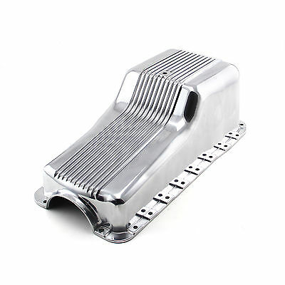 Ford SB 289 302 Windsor 1965-87 Front Sump Polished Aluminum Oil Pan