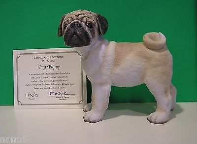 LENOX PUG PUPPY Dog sculpture NEW in BOX with COA