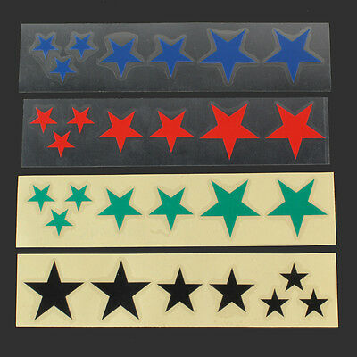 Fluorescent Star Bicycle Cycling Reflective Stickers Decal green/black/red/blue