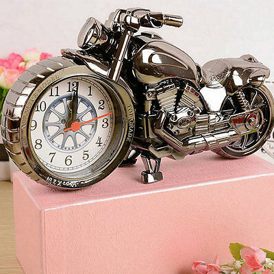 Motorcycle Motorbike Pattern Alarm Clock Home Birthday Gift Cool Clock NC