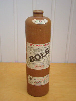 Collectable Retro Vintage Erven Lucas Bols Amsterdam Gin Bottle 1l