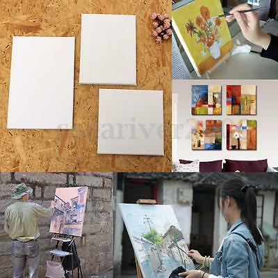 Blank Cotton Canvas Panels Mounted Art Artist Boards Painting Supplies Craft