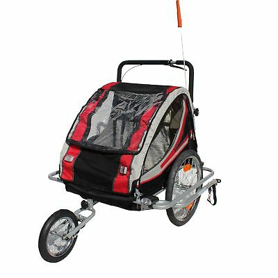 Bike child trailer Bicycle Red Loon RB10003J+ Jogger Suspension 2 children