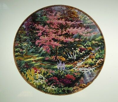 """Glassmasters: Thomas Kinkade: detail from """"Pools of Serenity""""   6.5 in."""