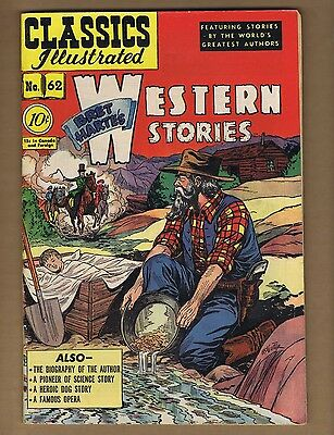 Classics Illustrated 62 (VG+) HRN 62 (O) Bret Harte's Western Stories (c#06195)