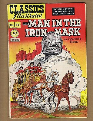 Classics Illustrated 54 (VG-) HRN 55 (O) Man in the Iron Mask 1948 LDC (c#06189)