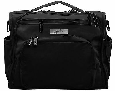 Ju Ju Be Onyx BFF Baby Diaper Bag Backpack w Changing Pad Black Out NEW 2016