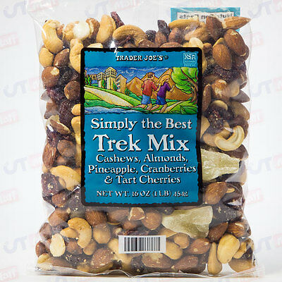 Trader Joe's Simply the Best Trek Trail Mix  Cashews Almonds Cranberries 1LB
