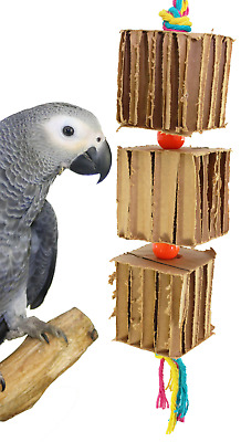 50075 Big Blocks'n'Knots Bird Toy parrot cage toys cages preening african grey
