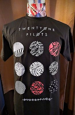 Brand New - 21 Twenty One Pilots - Blurryface - Black Shirt Red & White Logo