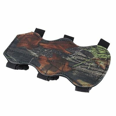 Archery Bow Arm Guard Protection Forearm Safe 3-Strap Camo Leather New QW