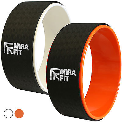 MIRAFIT 33cm Yoga/Pilates Exercise Wheel Stretch/Bend/Balance Aid Roller Back