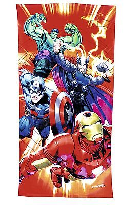 Marvel Avengers Cotton Kids Beach Towel Holiday Boys Thor Hulk Iron Man