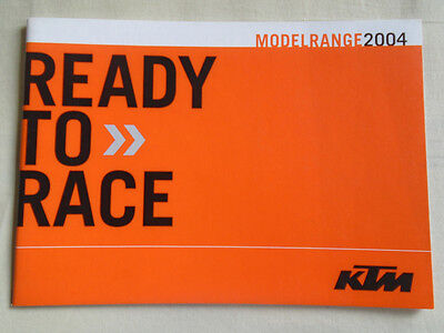 KTM range motorcycle brochure 2004 German & English text
